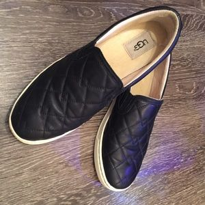 UGG Fierce Deco Quilted Leather Slip on Shoes